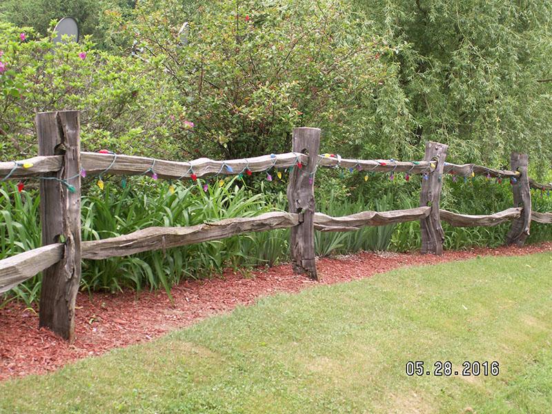 A Black Locust Connection Fence Posts Rails